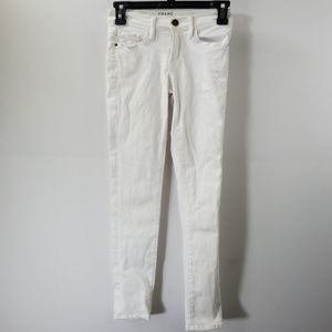Frame Denim White Le Skinny De Jeanne Crop Jean 24